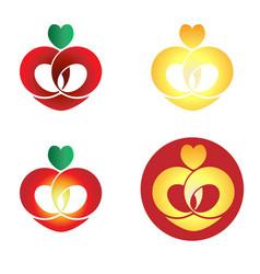logo love and bridal vector image vector image