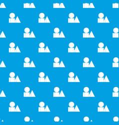 box of bricks pattern seamless blue vector image vector image