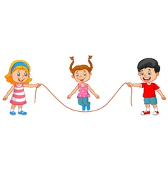 Cartoon jump rope vector image