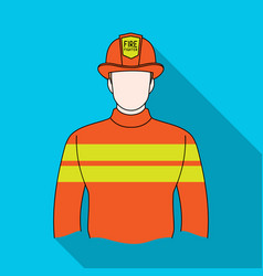 firefighterprofessions single icon in flat style vector image
