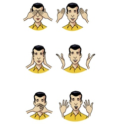 hand expressions vector image vector image