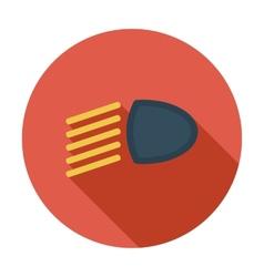Headlight flat icon vector image vector image