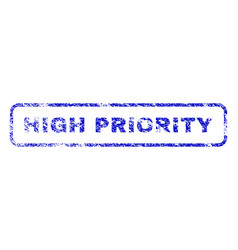 high priority rubber stamp vector image
