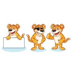 Leopard Mascot happy vector image vector image