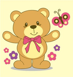 litle bear vector image