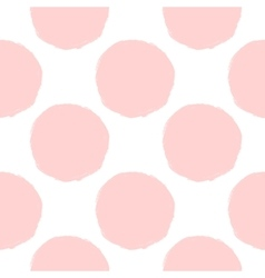 pink dots seamless pattern vector image