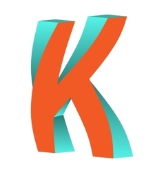 Twisted Letter K Logo Icon Design Template Element vector image