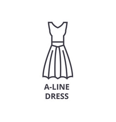 a line dress line icon outline sign linear vector image vector image