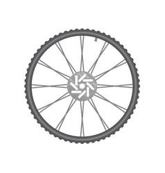black metallic bicycle wheel vector image vector image
