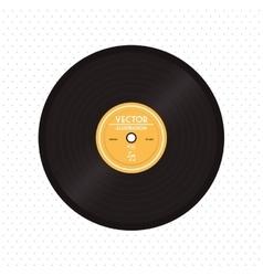 colorful retro vinyl design vector image