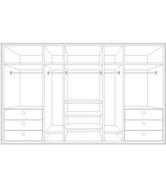 drawing of a wardrobe vector image vector image