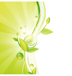 Green Frame With Leaves vector image