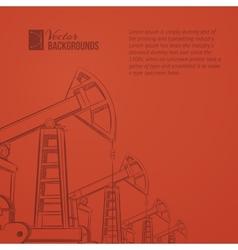 Oil pump plant vector image