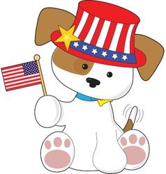 Puppy Patriotic vector image vector image