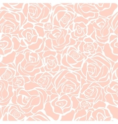 Seamless retro background with pink roses vector image