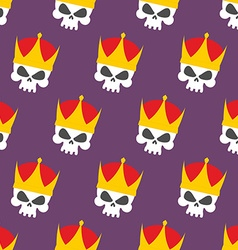 Skull Crown Seamless pattern background head vector image vector image