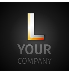 abstract logo letter L vector image