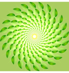 abstract yellow-green spring background vector image