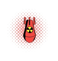 Atomic red bomb comics icon vector image