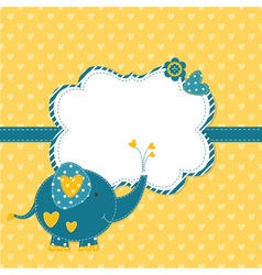 Baby shower with cute elephant 3 vector