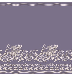 Background floral seamless pattern vector