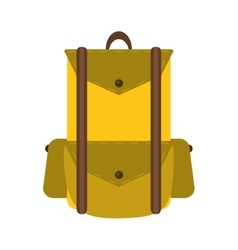 backpack travel hiking equipment camping vector image