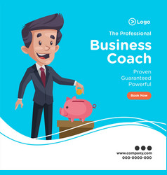 banner design professional businessman vector image