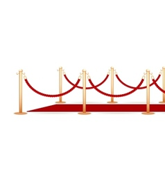 Barrier rope vector image