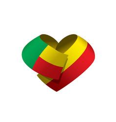 Benin flag vector