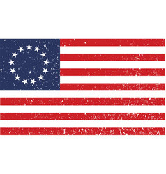 Betsy ross flag victory 1776 vector
