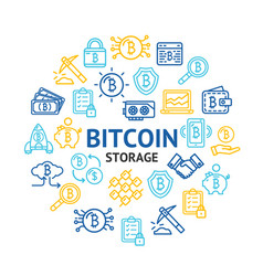bitcoin digital currency round design template vector image
