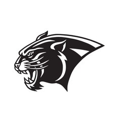 black panther head logo head mascot sports team vector image