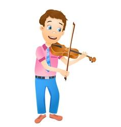 boy playing violin vector image