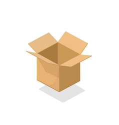 carton box open empty 3d vector image