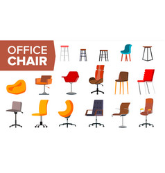 chair set office creative modern desk vector image
