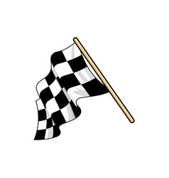 Checkered race flag flat vector