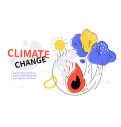 Climate change - colorful flat design style web vector
