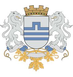 Coat of arms of podgorica in montenegro vector