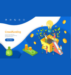Crowdfunding for new business or startup web page vector