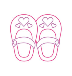 cute girl shoes baby shower decoration celebration vector image vector image