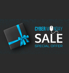 cyber monday sale horizontal poster or banner vector image