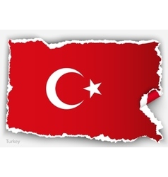 design flag turkey from torn papers with shadows vector image