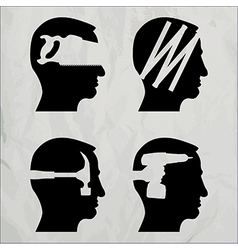 DIY heads vector