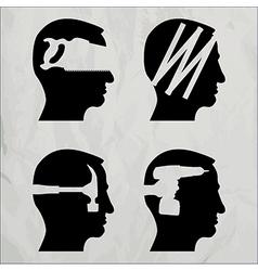 DIY heads vector image
