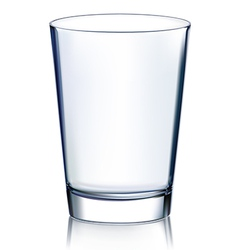 Empty glass vector image