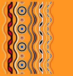 Ethnic seamless pattern australian traditional vector