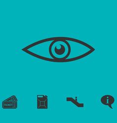 Eye icon flat vector