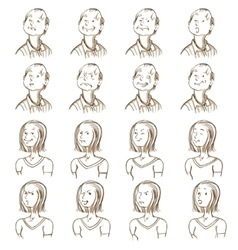 Facial Expressions Collection vector