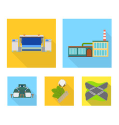 factory enterprise buildings and other web icon vector image