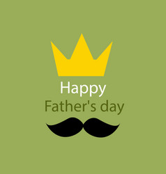 Fathers day greeting template vector